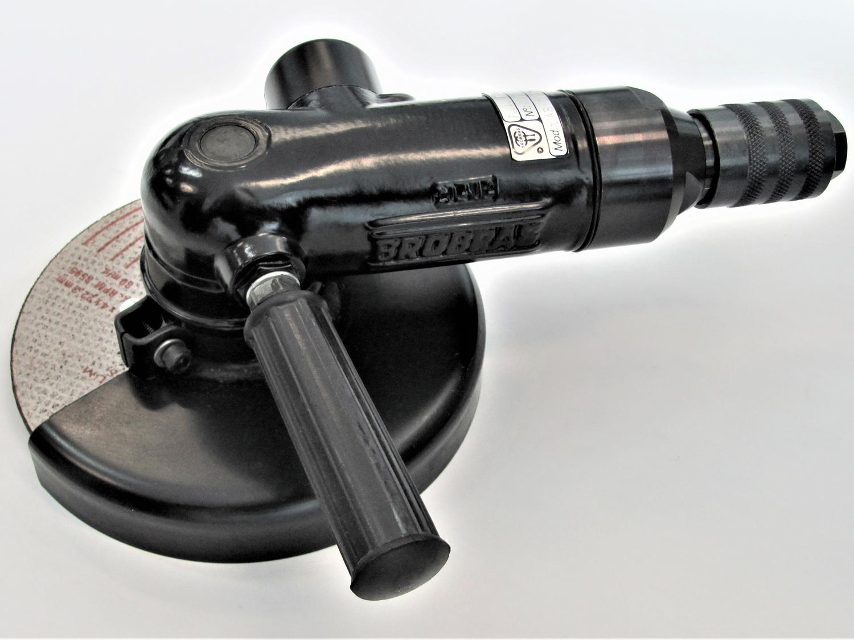 Lixadeira Pneumática Angular com Chave Giratória e Disco de Desbaste. LAB-57D7